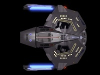 Top view of Saber-class starship